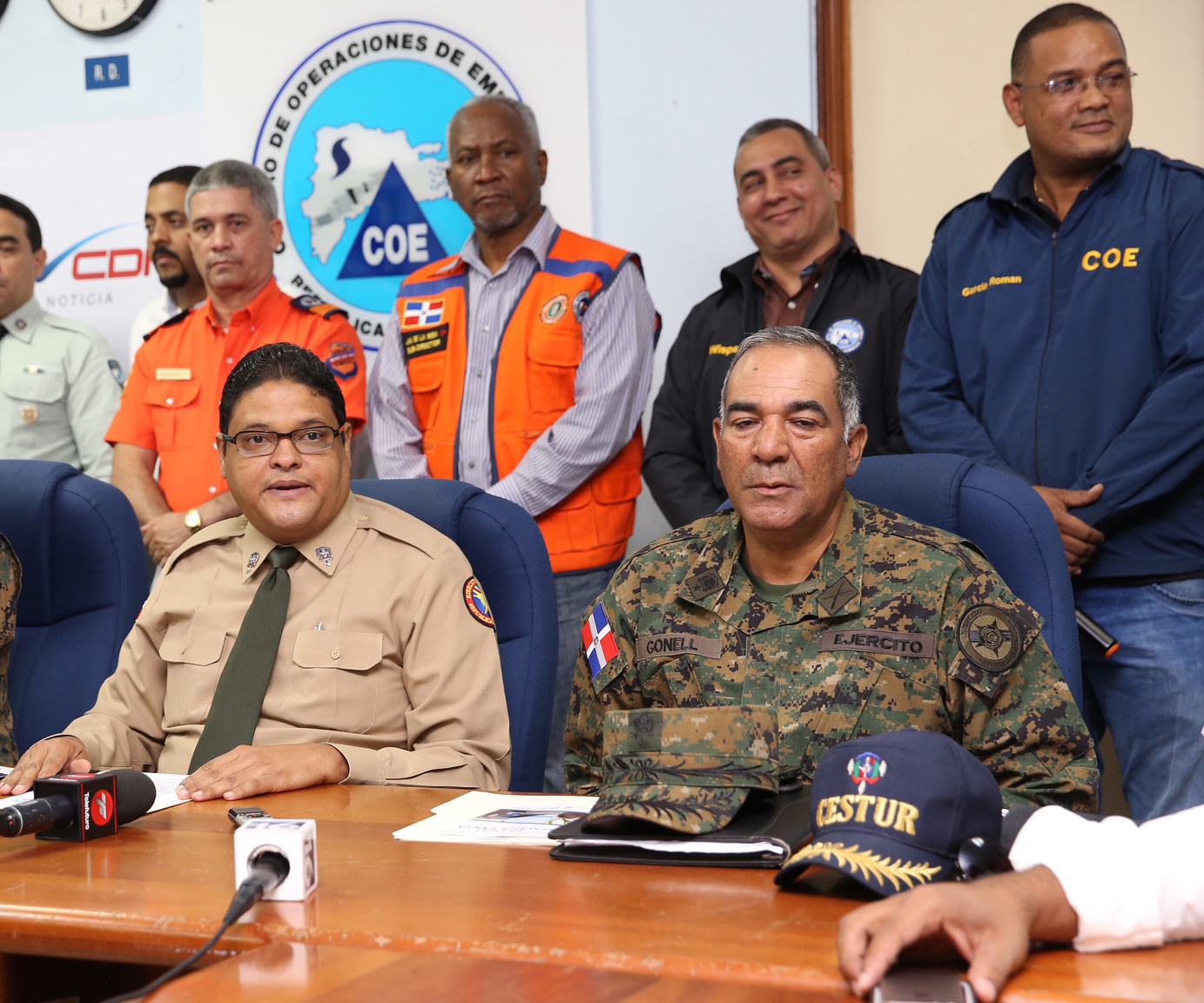 El COE coloca  en alerta a cinco provincias ante posibles inundaciones,